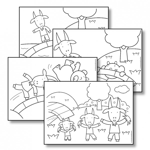 The best free Gruff coloring page images. Download from 45
