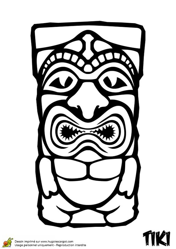 tiki mask vector at getdrawings  free download
