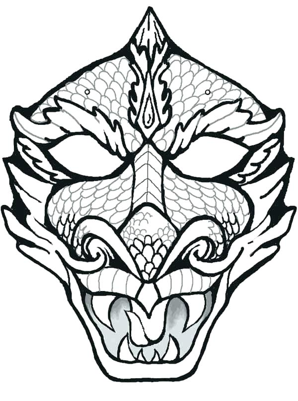 The best free Mask coloring page images. Download from