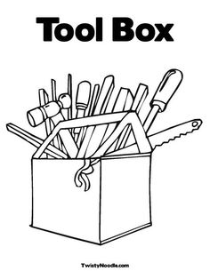 Tool Box Coloring Page : coloring, Coloring, GetDrawings, Download