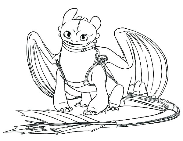 Dragons Toothless Coloring Pages Novocom Top