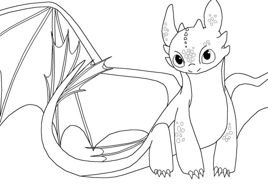 Printable Toothless Dragon Coloring Page Novocom Top