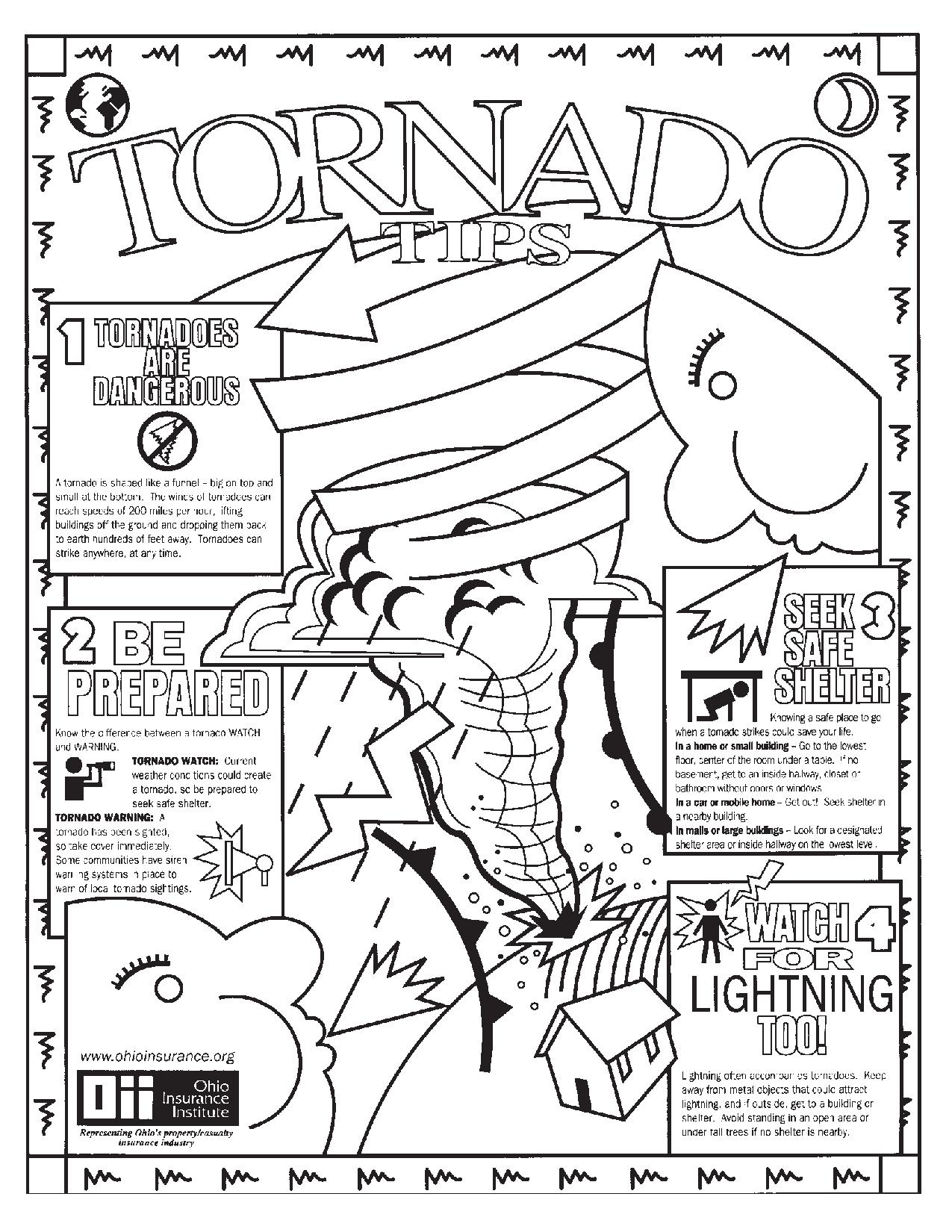 Tornado Coloring Pages At Getdrawings