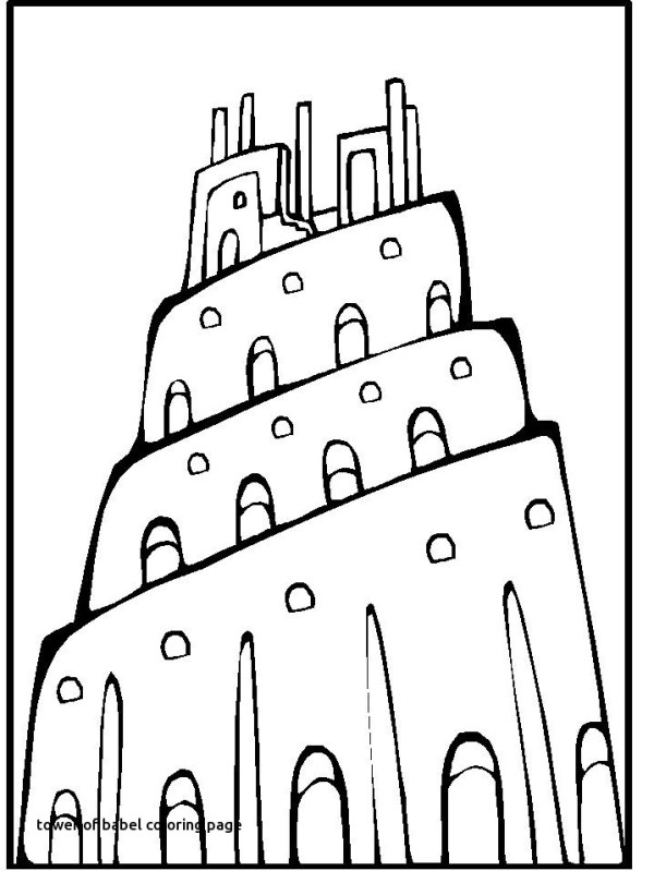 tower of babel coloring page # 51