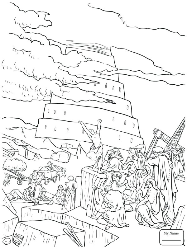 tower of babel coloring pages # 49