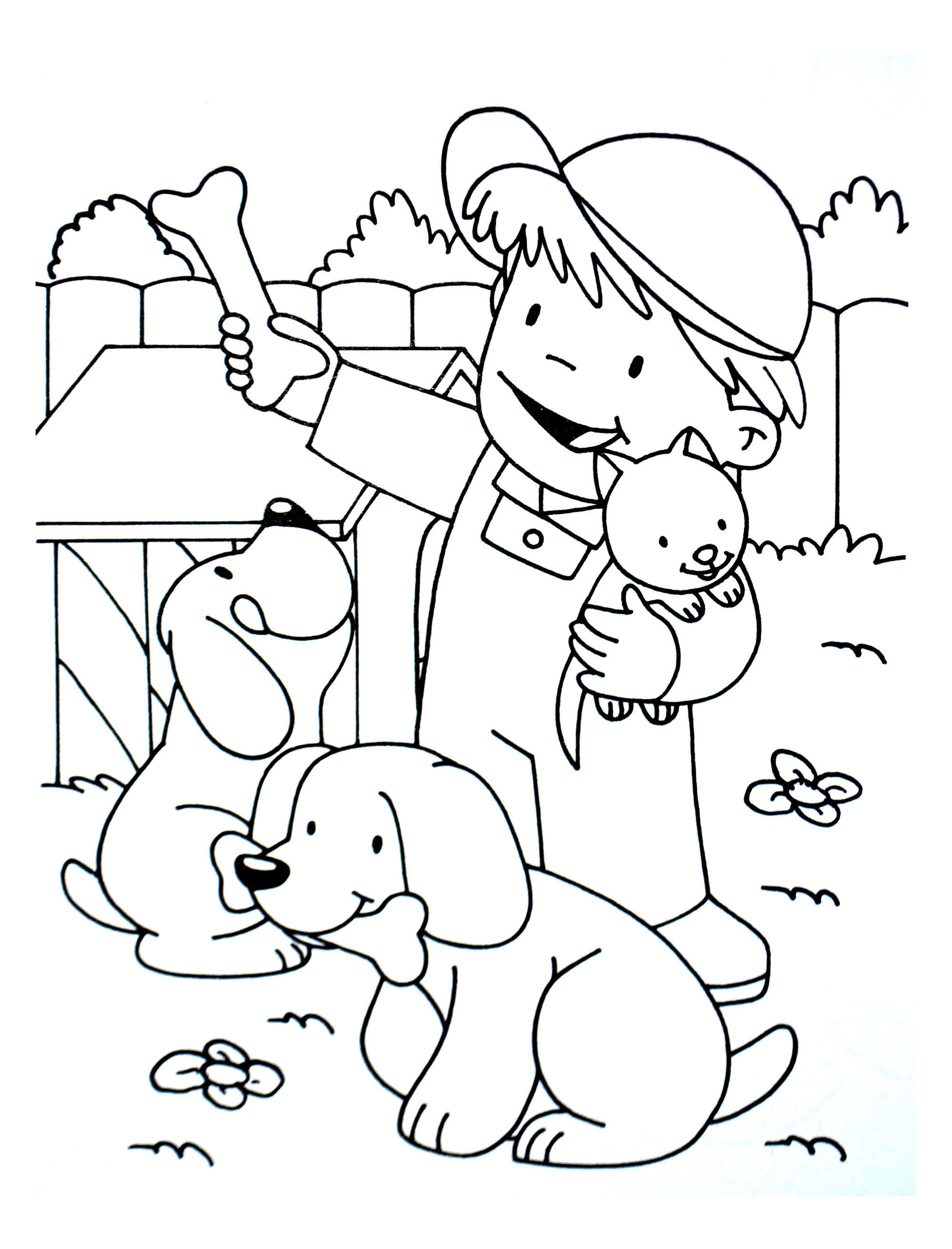 Two Dogs Coloring Pages At Getdrawings