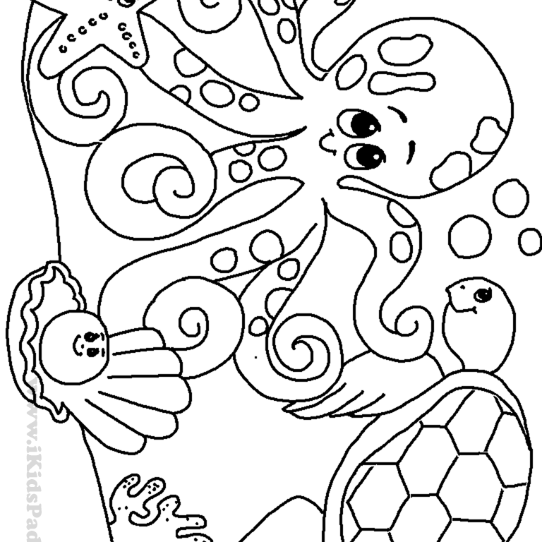 Under The Sea Printable Coloring Pages at GetDrawings