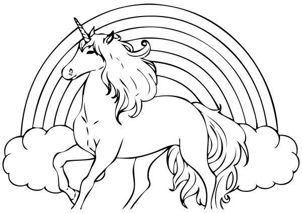 free coloring kids unicorn # 38