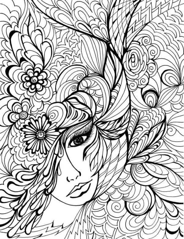 difficult coloring pages for adults # 80