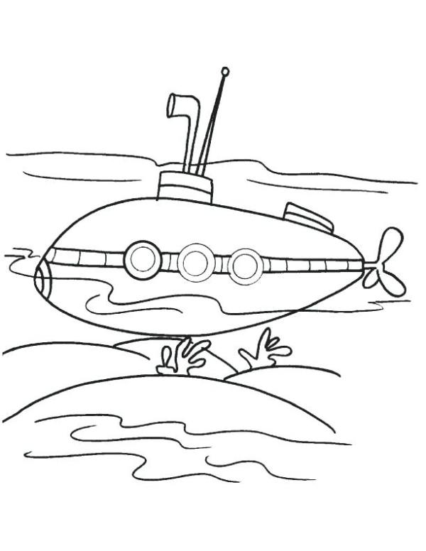 submarine coloring pages # 17