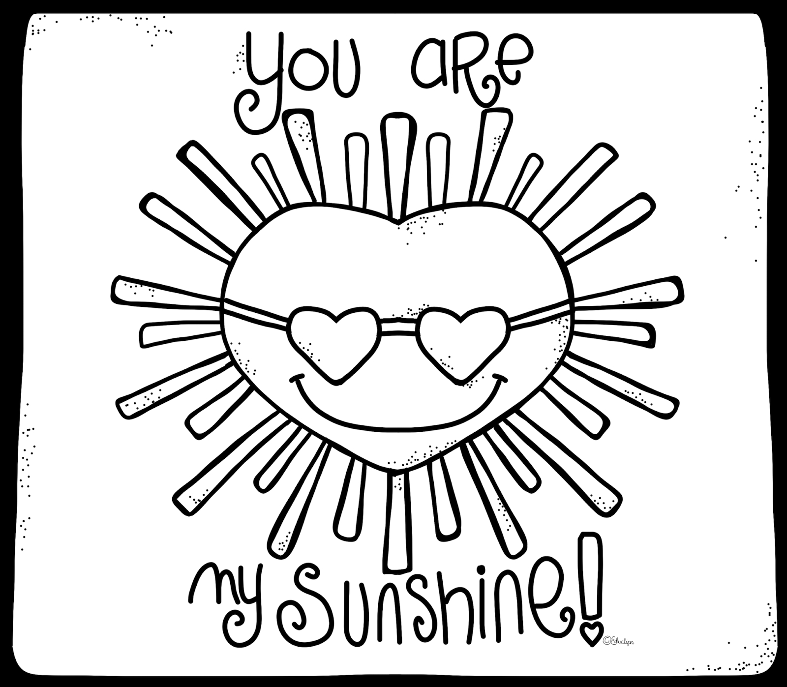 You Are My Sunshine Coloring Page At Getdrawings