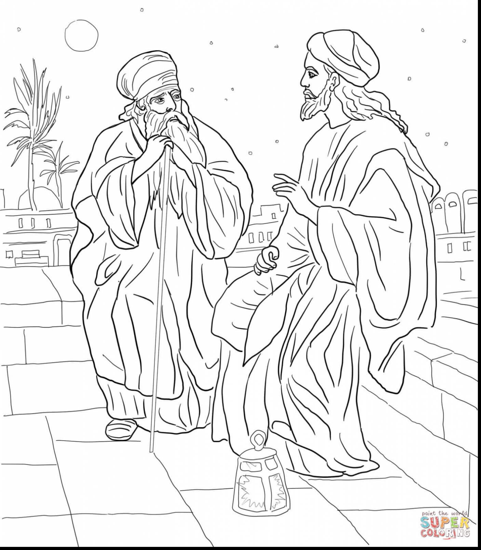 The Best Free Zacchaeus Coloring Page Images Download