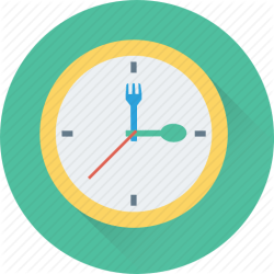 lunch icon clock dinner meal food icons box getdrawings