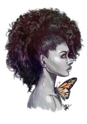 afro hair drawing