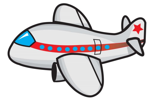 airplane cartoon drawing