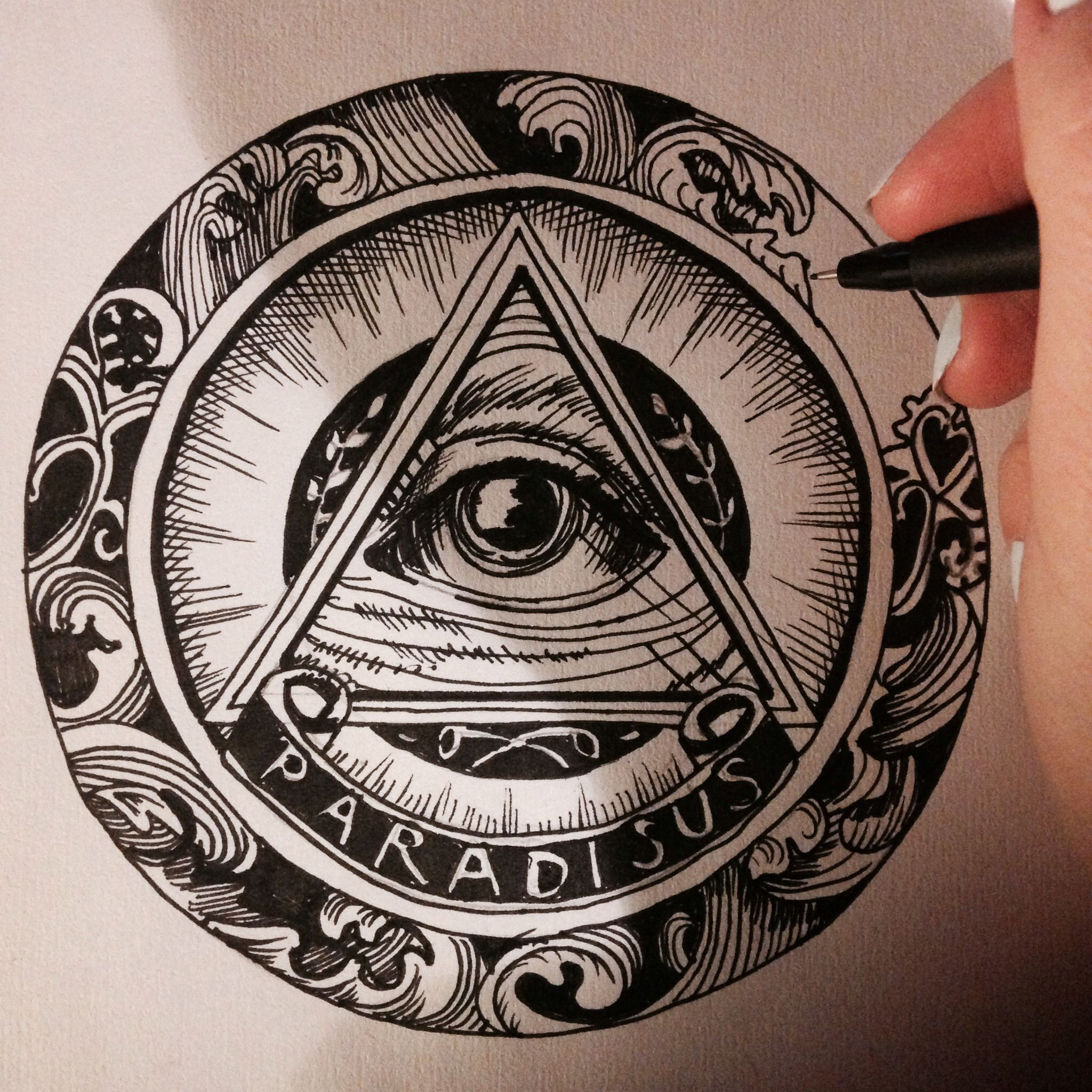 All Seeing Eye Drawing At Getdrawingscom Free For Personal Use