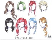 anime girl hair drawing