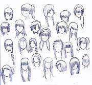 anime girl hair drawing getdrawings