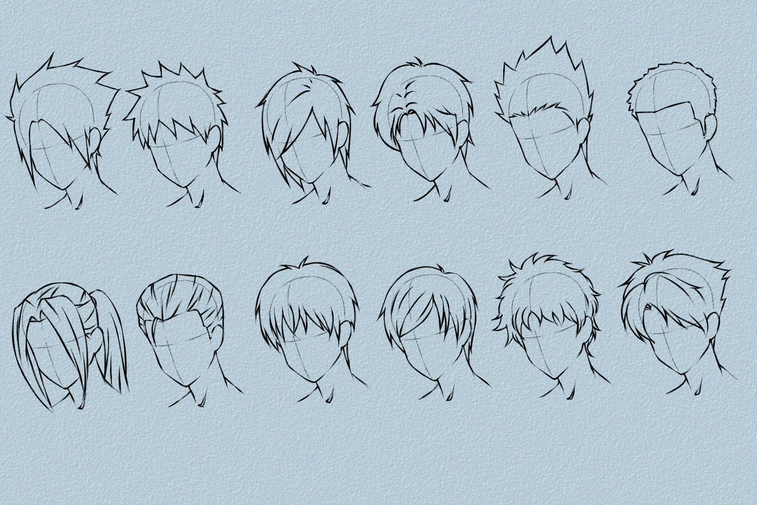 anime guy hairstyle names