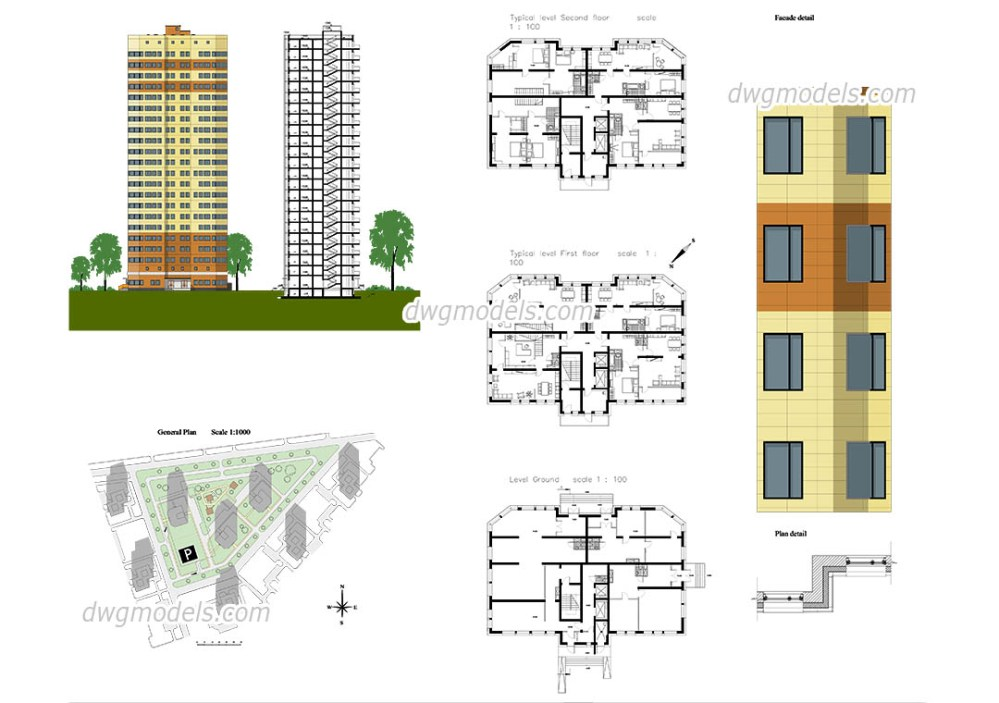 medium resolution of 1080x760 apartment autocad plans free cad drawings download
