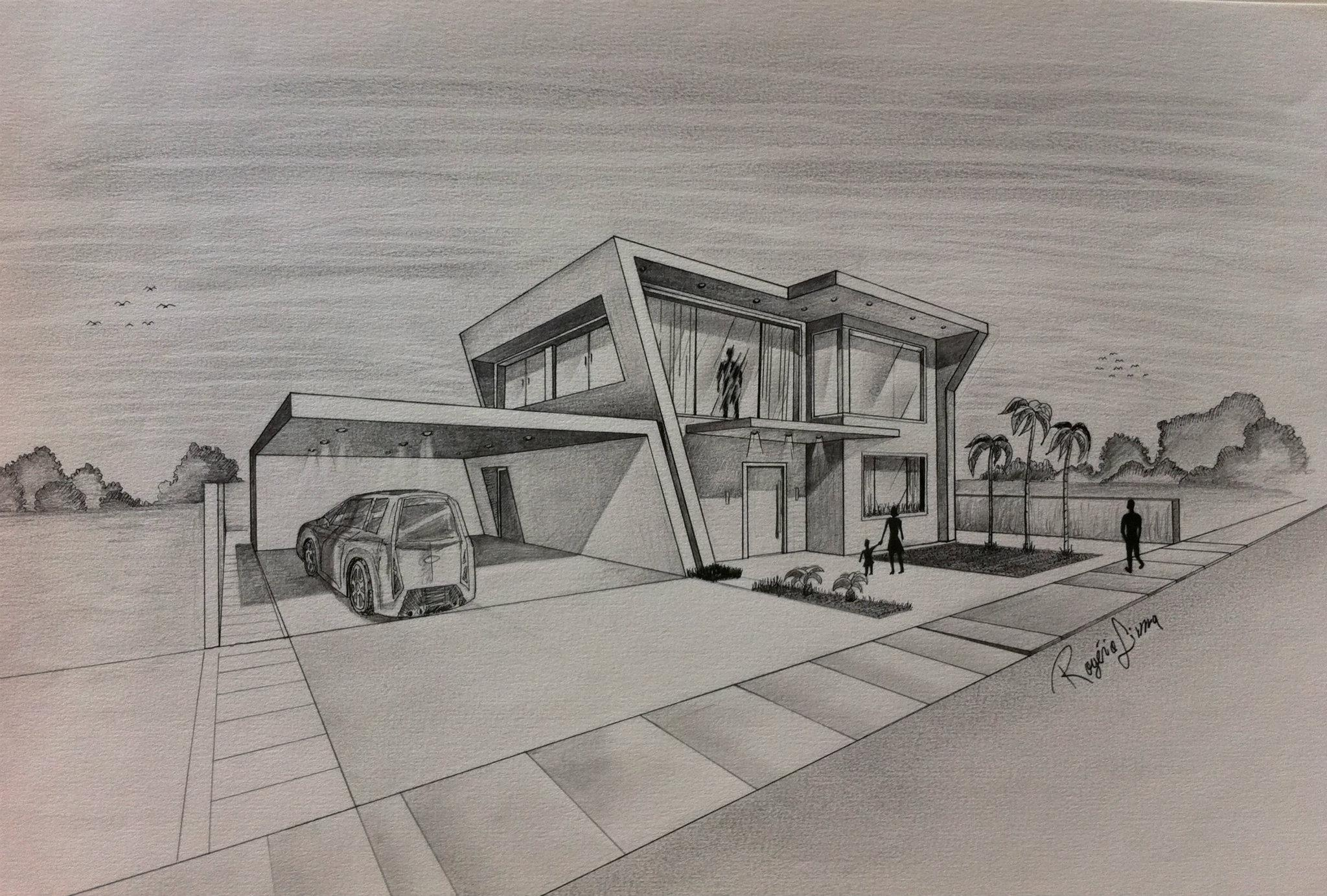 Architect Hand Drawing At Getdrawingscom  Free For