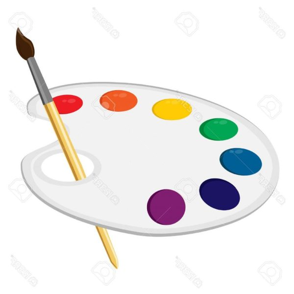 Artist Palette Drawing Free