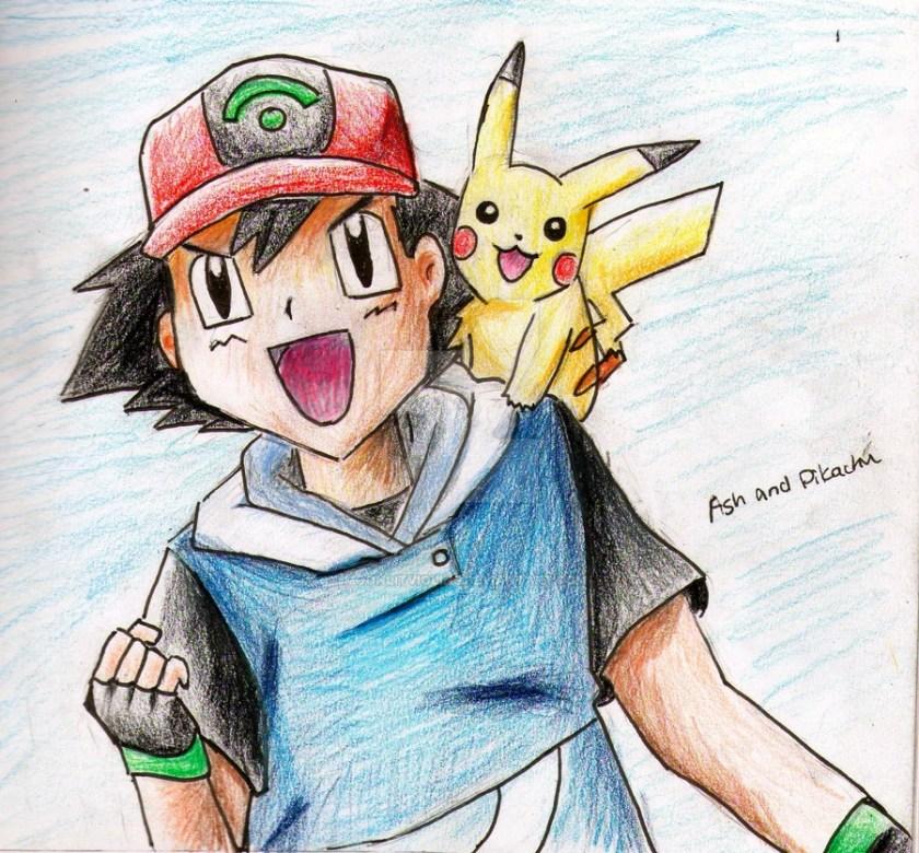 ash and pikachu drawing at getdrawings  free download