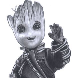 groot drawing sketch pencil guardians realistic septiembre diego galaxy sketches graphite getdrawings colorful charcoal paintingvalley catawiki gal