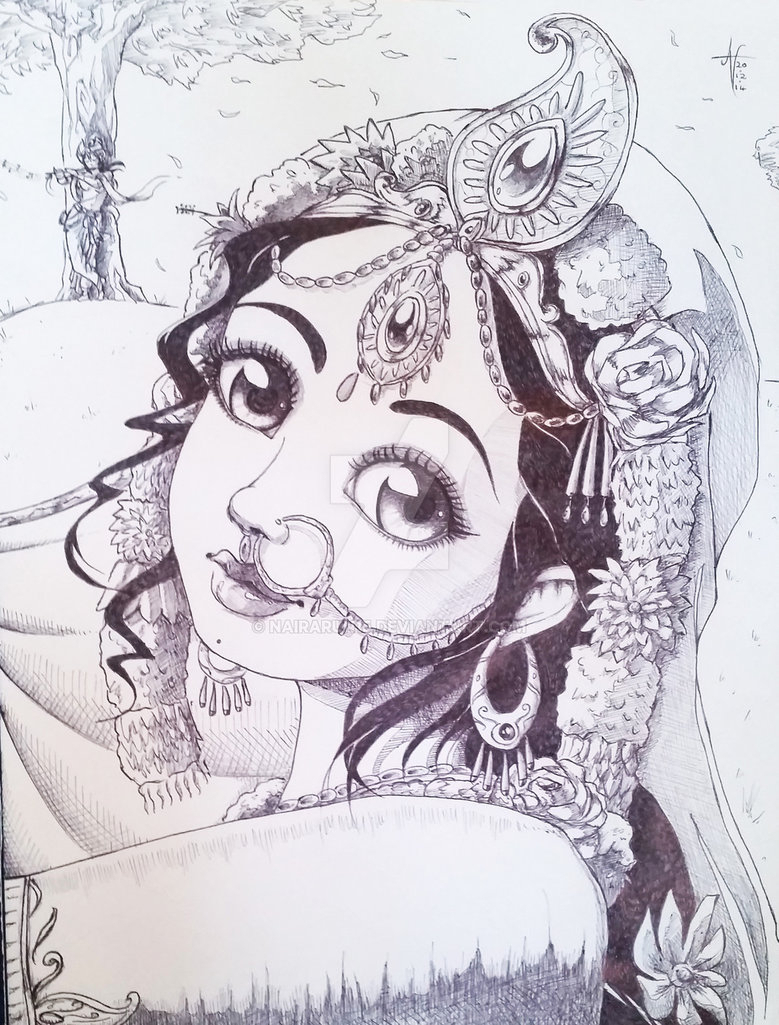 Easy Radha Krishna Pencil Sketch Arte Inspire