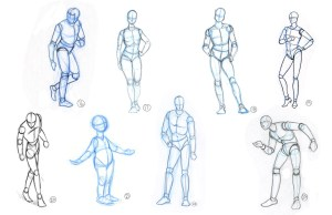 basic drawing shape shapes human draw basics using beginners excercise construction lines copy