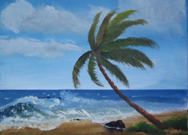 beach landscape drawing