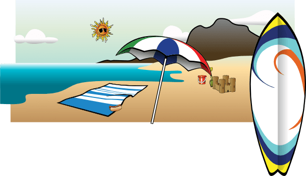 beach chair and umbrella clipart butterfly kohls drawing at getdrawings com free for personal use 600x345 clip art