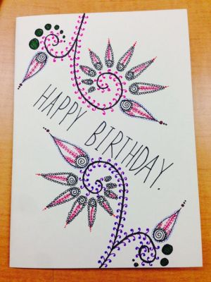 birthday card drawing cards happy draw drawn hand getdrawings simple diy related very quotes drawings handmade wishes greeting homemade birthdays