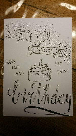 birthday drawing happy drawings sketch card hand posters doodles sketches lettering pencil handletteren cards handlettering letters bday verjaardag doodle friend