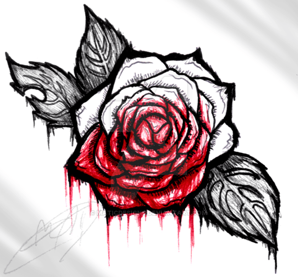 Bloody Rose Drawing at GetDrawingscom  Free for personal