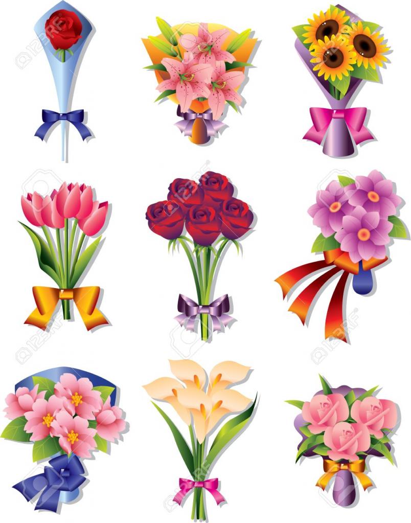 Cartoon Images Of Bouquets Flowers Djiwallpaper