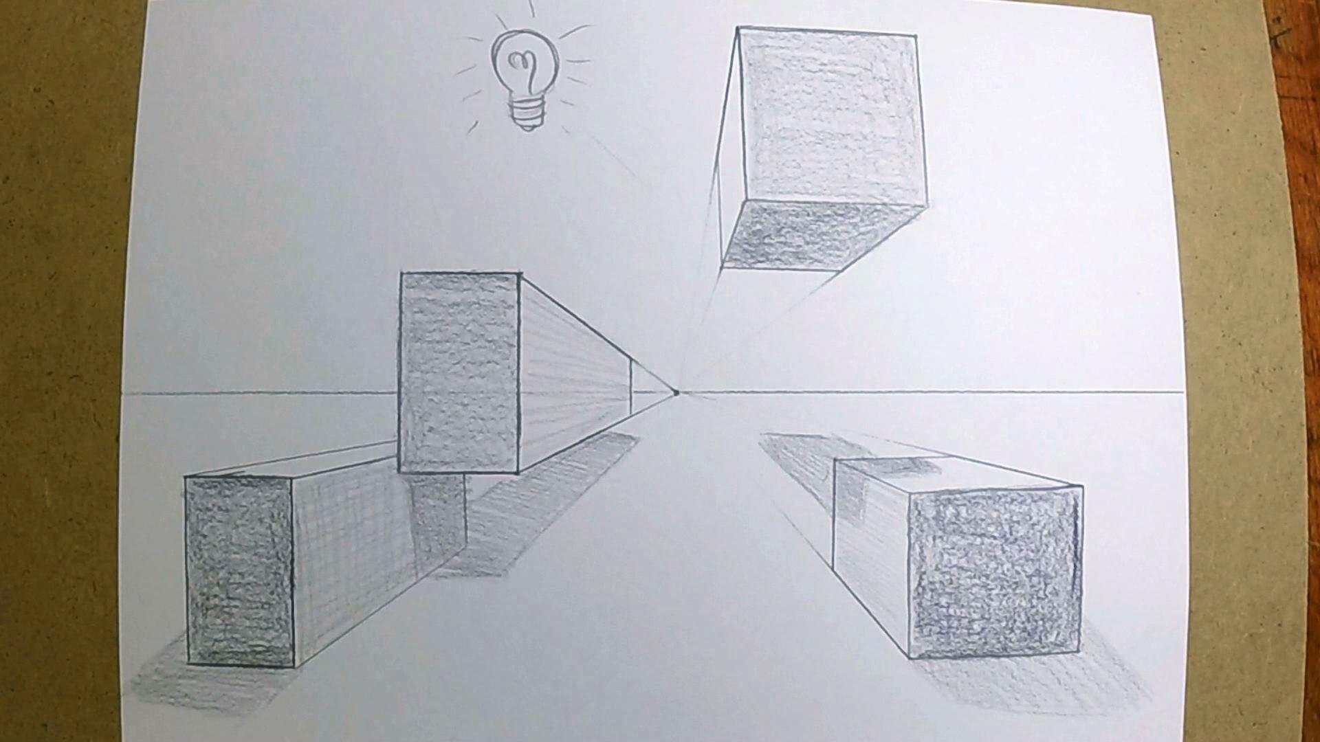 Box Perspective Drawing At Getdrawings