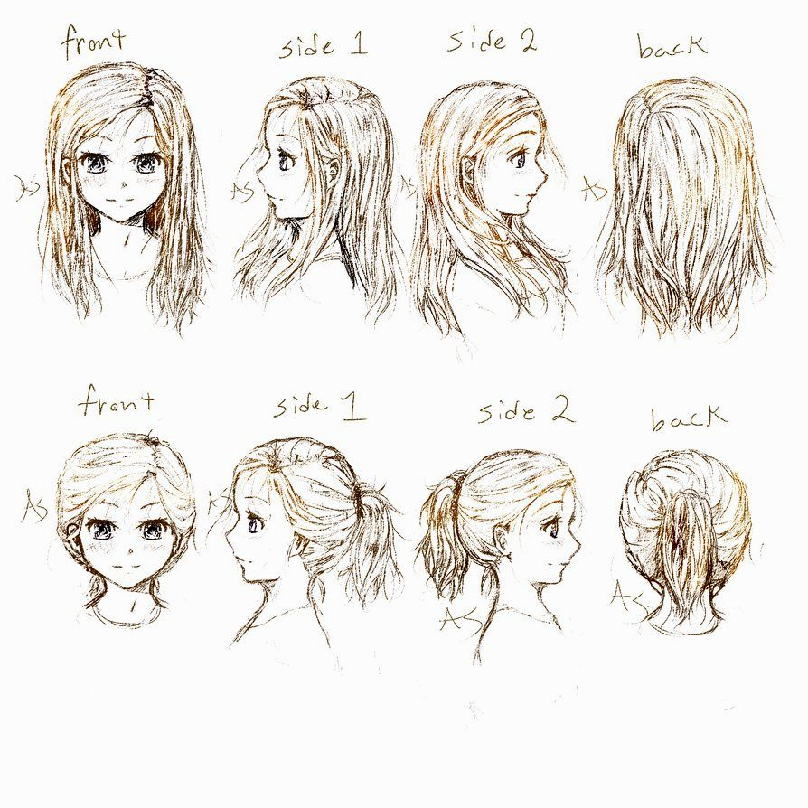 894x894 Anime Hairstyles Side View Ideas