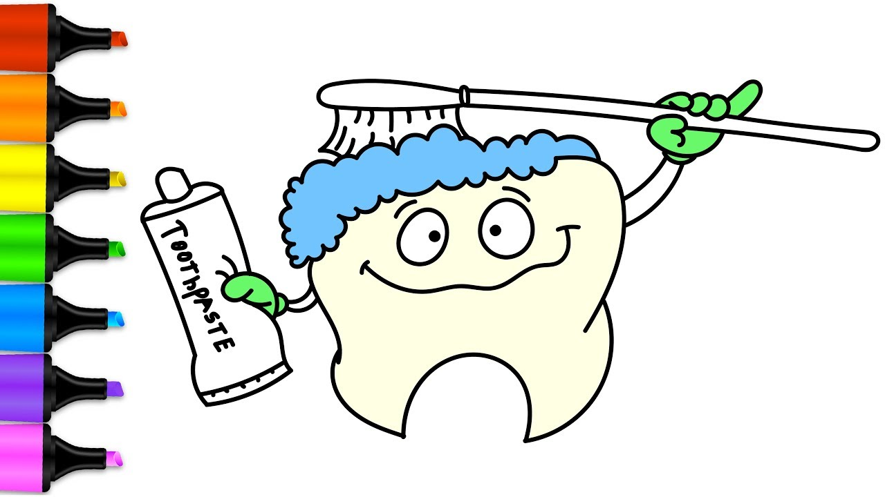 hight resolution of 1280x720 how to draw brushing teeth baby brushing his teeth coloring