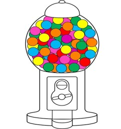 1280x720 bubble gum coloring book drawing gumball machines art colors [ 1280 x 720 Pixel ]