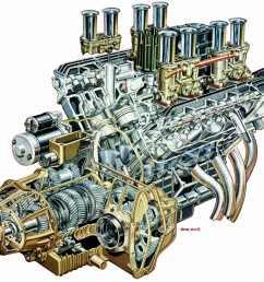 1280x1107 v8 engine cutaway illustration race engines amp cutaways [ 1280 x 1107 Pixel ]