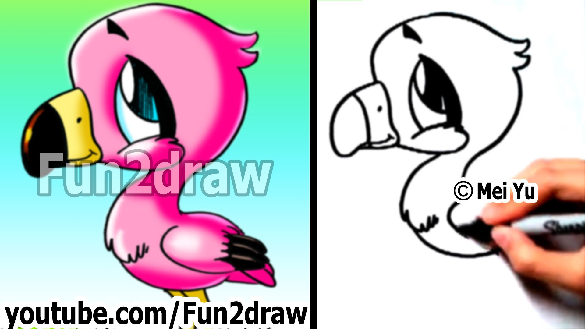 cartoon animal drawing at