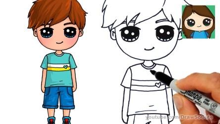 boy cute cartoon draw drawing easy boys drawings pic
