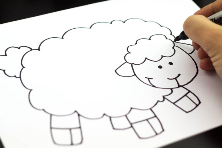 how to draw a bighorn sheep step by step