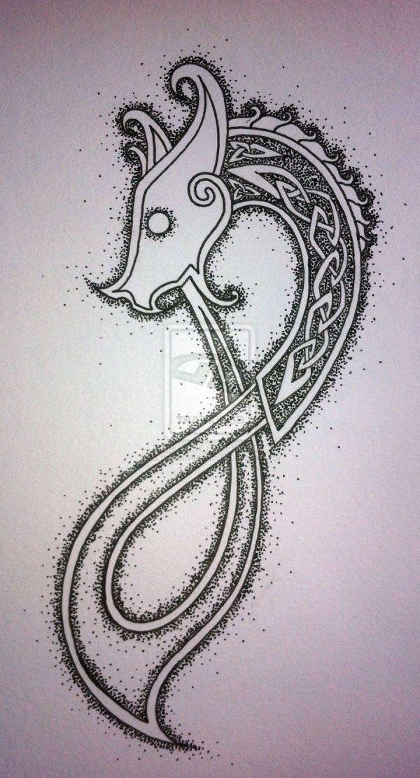 Celtic Dragon Drawing Free