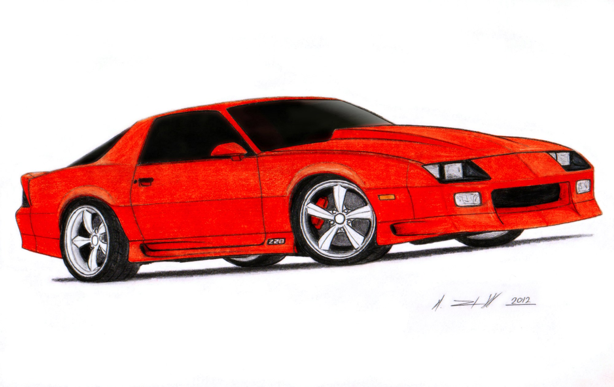 hight resolution of 2317x1461 1992 chevrolet camaro z28 iroc z drawing by vertualissimo