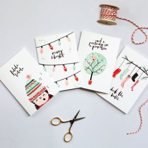 christmas cards drawing card holiday draw illustrated hand diy drawings simple xmas handmade thelovelydrawer gorgeous watercolor painted packaging crafts getdrawings
