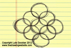 drawing circle easy pattern draw patterns drawings symbols start shapes writing getdrawings exercise