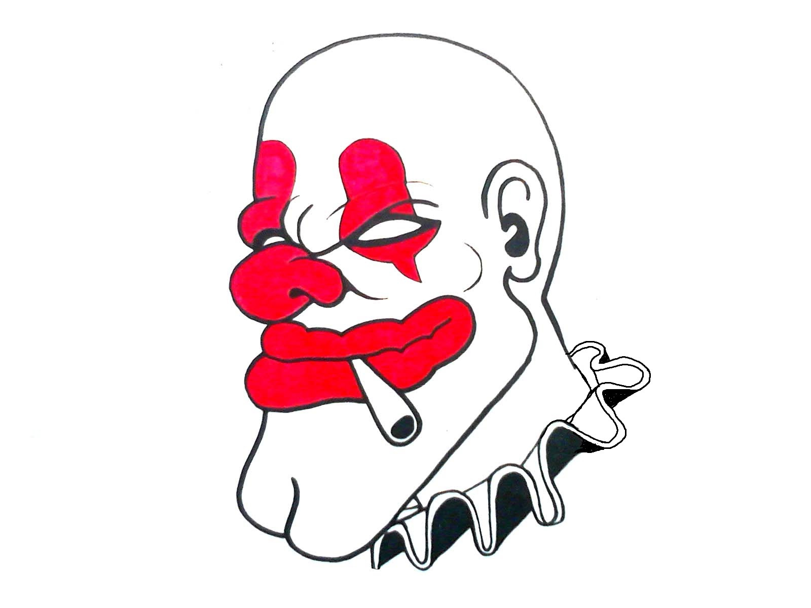 Gangster Clown Drawings
