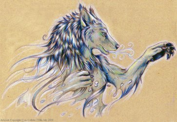 wolves cool drawing spirit wolf getdrawings